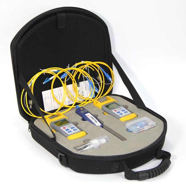 FTTH Fibra Optica Outil Kits Komshine KLT-25M puissance optique laser source et Visual Fault Locator