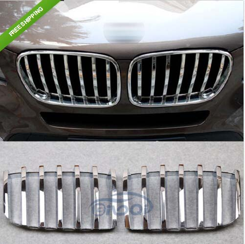 Chrome Front Grill Grille Cover Trim For BMW X3 F25 2011-2013 2pcs kit accessory abs chrome grill grille frame cover for bmw x3 f25 2011 2015