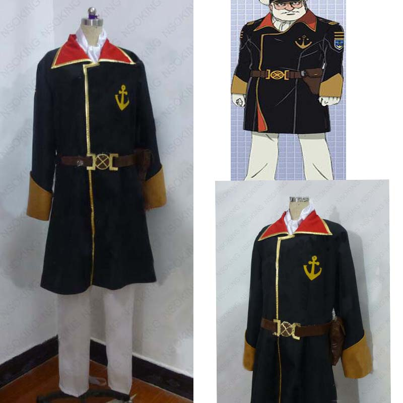 Anime Space Battleship Yamato 2199 Okita Juuzou Cosplay costume Custom Made
