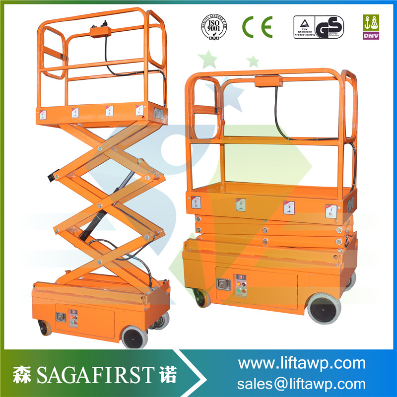 Small Working Platform Full Electric Scissor Lift