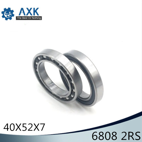6808-2RS Bearing ABEC-1 (10PCS) 40x52x7 mm Thin Section 6808 2RS Ball Bearings 6808RS 61808RS6808-2RS Bearing ABEC-1 (10PCS) 40x52x7 mm Thin Section 6808 2RS Ball Bearings 6808RS 61808RS