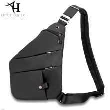купить ARCTIC HUNTER Brand Chest Bag Oxford Shoulder Crossbody Bags Men Travel Sports Bag Anti Theft Chest Pack Black Messenger Bag по цене 1406.18 рублей