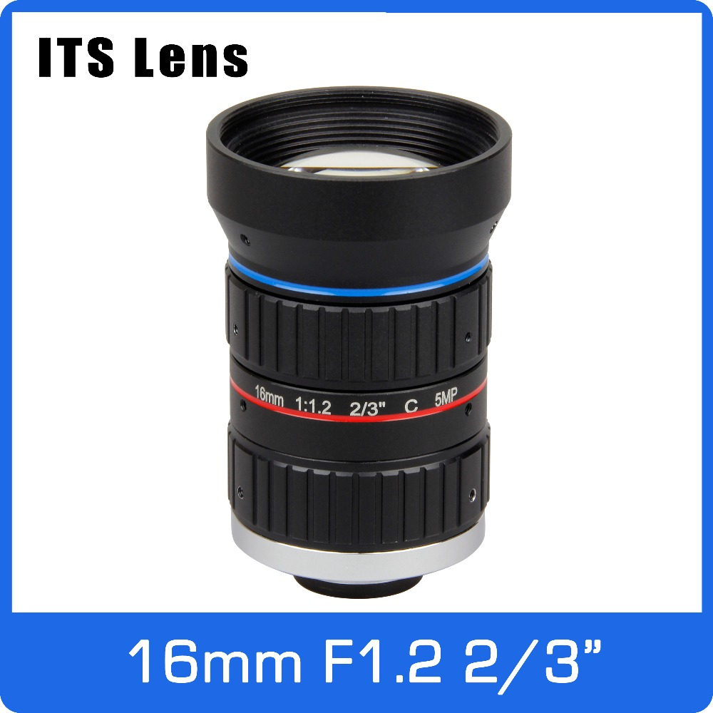 2/3 inch 5MP ITS Lens 16mm  Ultra Starlight F1.2 C Mount For Electronic Police or Traffic Camera2/3 inch 5MP ITS Lens 16mm  Ultra Starlight F1.2 C Mount For Electronic Police or Traffic Camera