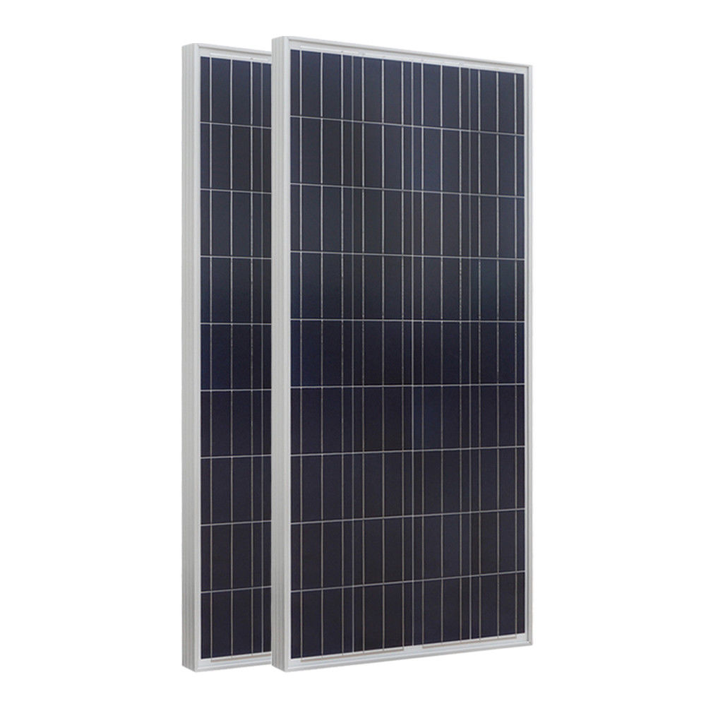 2PCS 160W Polycrystalline Photovoltaic PV Solar Panel Module 12V off Grid Battery Charging for Boat Yacht Household RV