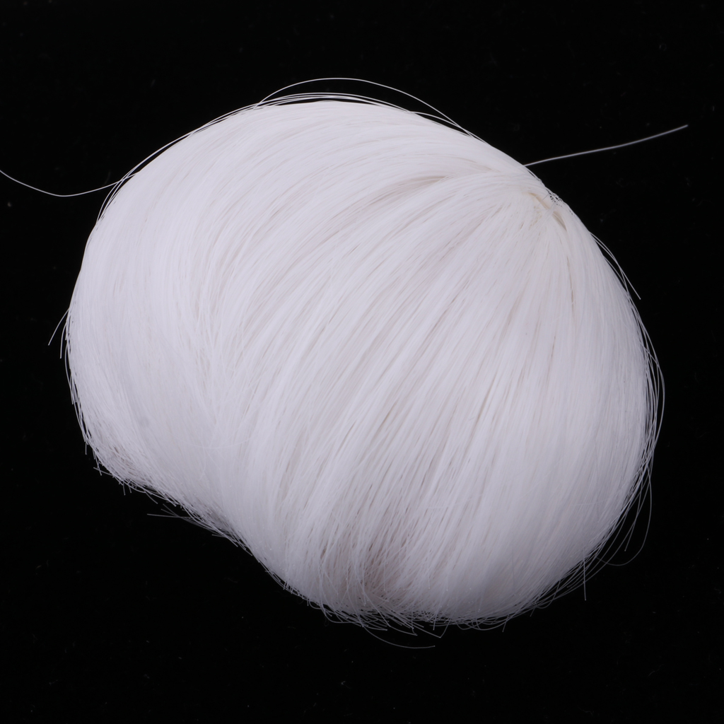 High Temperature Wire Short Hair 5-6 Inch Head <font><b>1/8</b></font> <font><b>BJD</b></font> <font><b>Doll</b></font> <font><b>Wig</b></font> Hair Accessories, White Color image