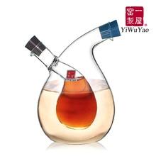 Kitchen supplies oil and vinegar bottle oiler soy sauce and vinegar cruet glass bottle seasoning bottle seal leak