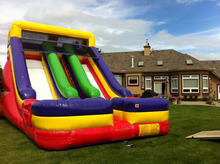 inflatable slide jumping with bounce playground