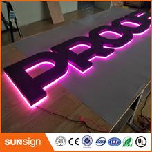 Najwyższej klasy podświetlany list żarówka akrylowa led kanał znak tanie tanio shsuosai CN (pochodzenie) acrylic led leterr sign 0043