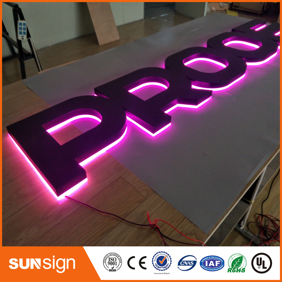 Top Grade Backlit Letter Bulb Acrylic Led Channel Sign