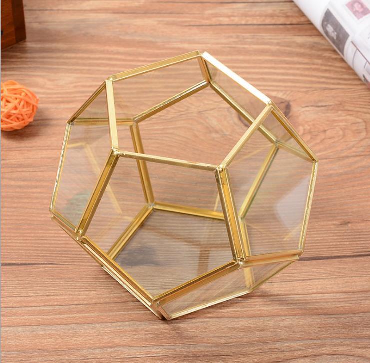 Planter-Box Flower-Pot Display Terrarium-Bonsai Tabletop Glass Garden Moss Fern Polyhedron