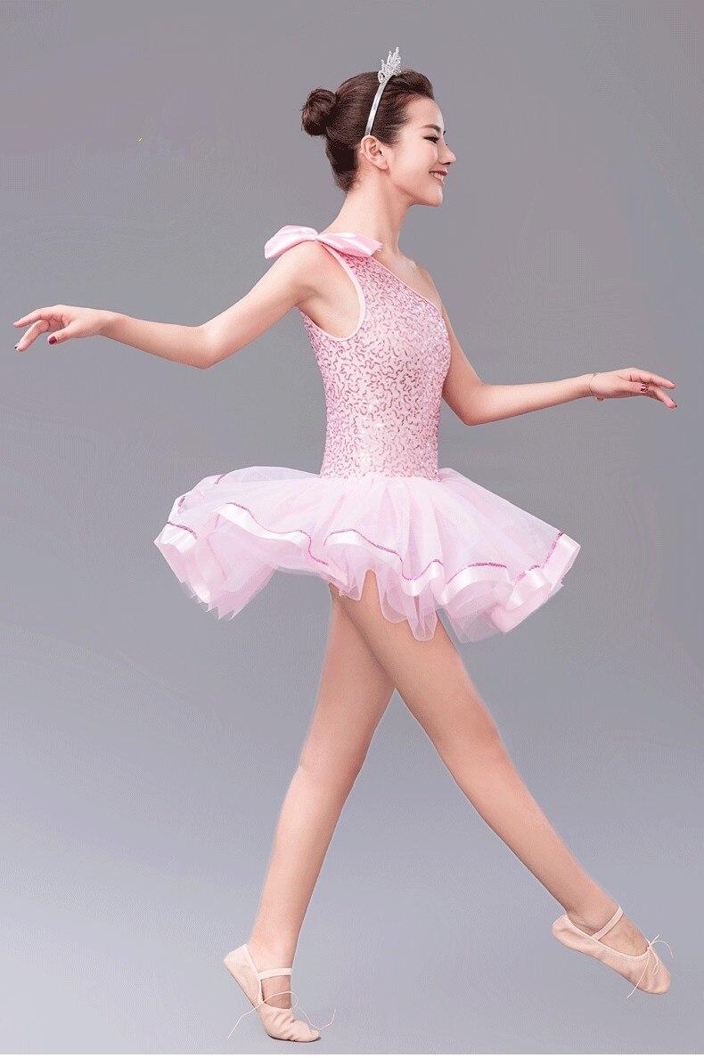 e3e4580c169f Pink Tutu Ballet Leotard Dancing Dress Kids Girls Dance Wear Ballet ...