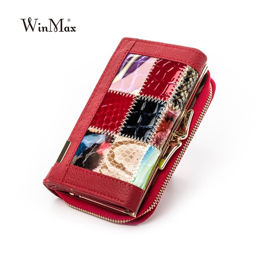 Жінки розкішний бренд мода натуральна шкіра клаптиків гаманець жінок малого гаманець жіночий короткий дизайн