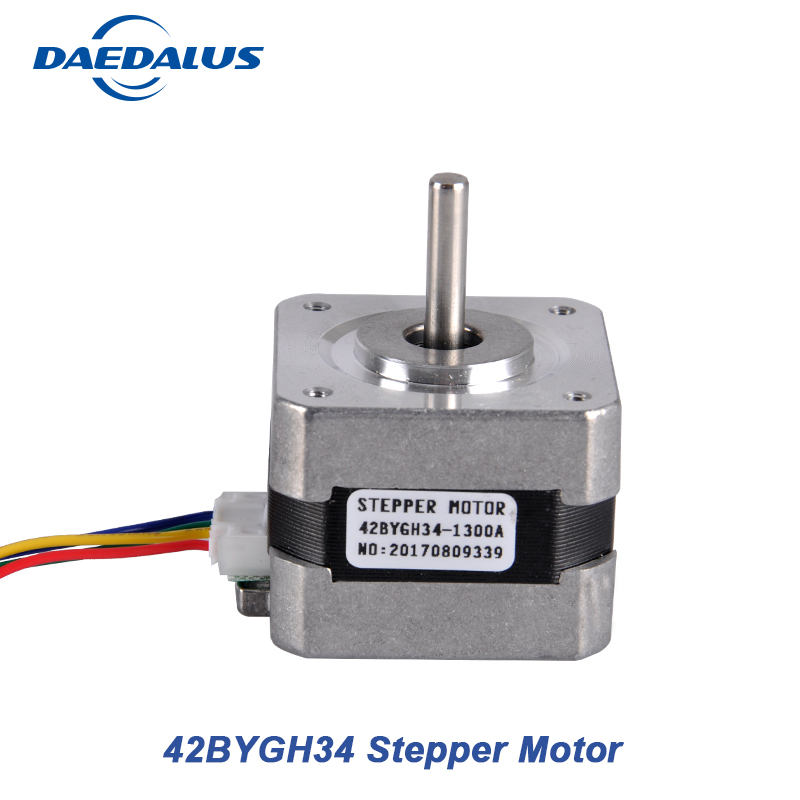 1PCS Nema17 Stepper Motor 42BYGH34 1.3A Stepper Motor Controller Two PHASE 4-lead 42 Motor For CNC Engraving Milling Machine 57 series motor drive two phase stepper motor for single axis output engraving machine 3d printing motor 57hs10044a4 l100