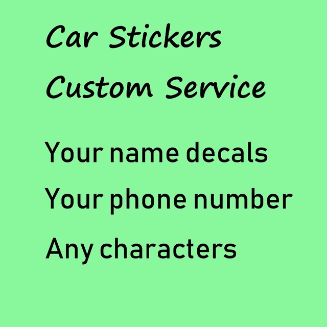 사용자 정의 스티커 텍스트 이름 전화 번호 이메일 주소 wesite Decal PVC 방수 자동차 노트북 데칼 그림 Die Cut design