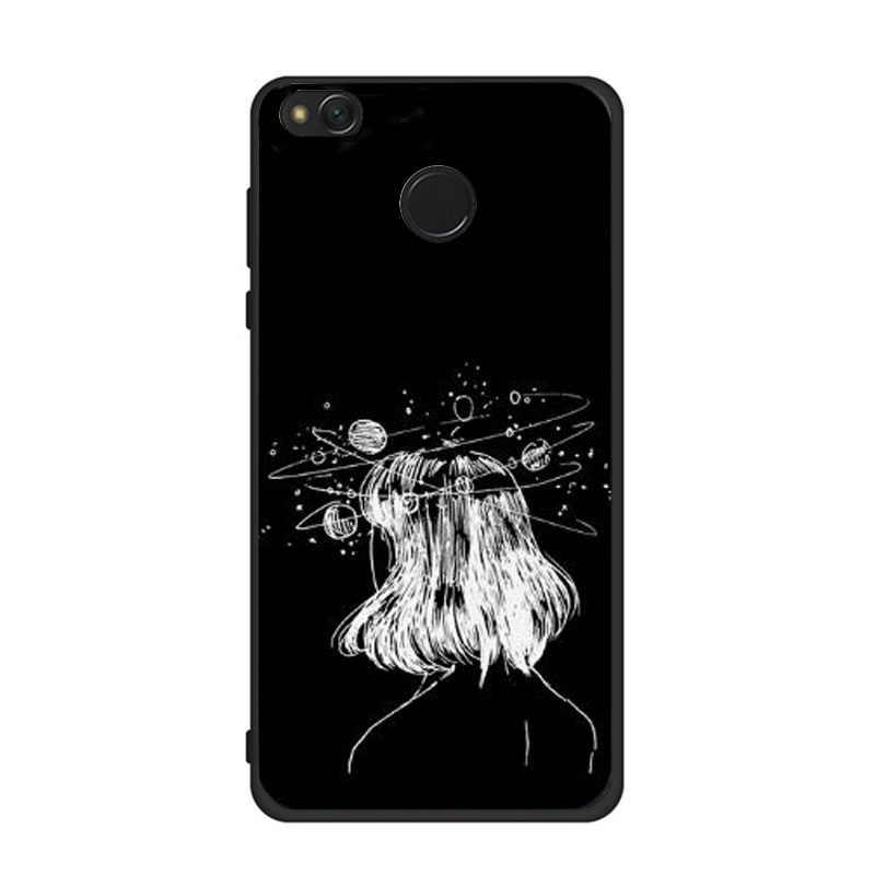 Bolsas para Xiaomi mi A1 5A caso linda chica negro Corazón de amor de las mujeres Coque para Xiaomi rojo mi 4A 4X note4 5A Fundas carcasas