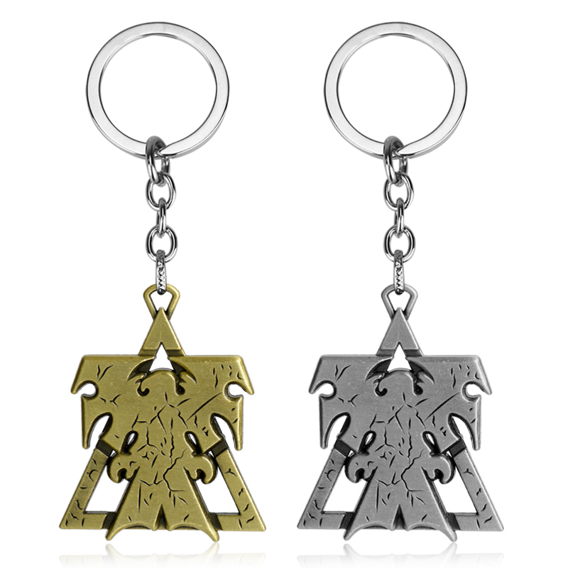 dongsheng 2018 New StarCraft 2 Keychain Superhero Wings of Liberty Terran Metal Logo Car Keyring Holder Chaveiro Gifts -50