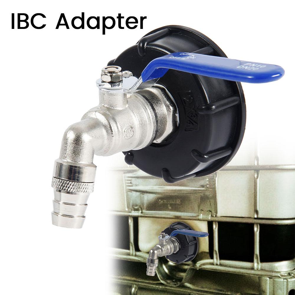 IBC Tank Adapter S60x6 Coarse Thread Drain Container Rainwater Tap Valve UK