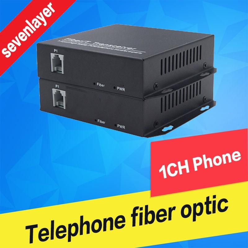 Telefone para Voz sobre Fibra Óptica Conversor de Mídia conversor de fibra óptica PCM fxs/fxo para conversor de fibra óptica Transmissor 1CH|Transmissão e cabos| |  - title=