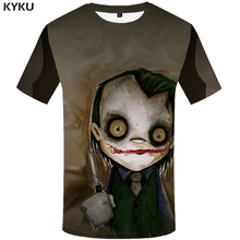 KYKU Skull Tshirt Men Halloween Witch T-shirt Punk Rock Clothes Anime 3d T Shirt Prints Blood Hip Hop Mens Clothing Summer Tops