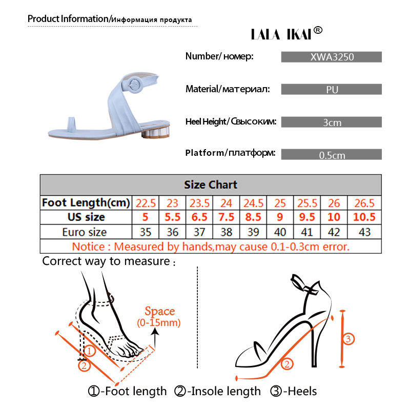 LALA IKAI Women Casual Summer Shoes PU Leather Solid Color Buckle Strap Low Heels Ladies Sandals Chaussures Femme 014A3250-4