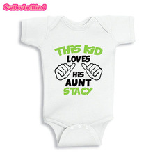 Buy gifts aunt and get free shipping on aliexpress culbutomind this kids loves his aunt baby newborn short sleeved baby boy body suit or kids negle Image collections