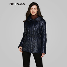 MOHNASS 2015 Spring blouses sintepon Women Brand clothes Short Woman Coat Slim Jacket RUS Free Shipping MC-5B7510