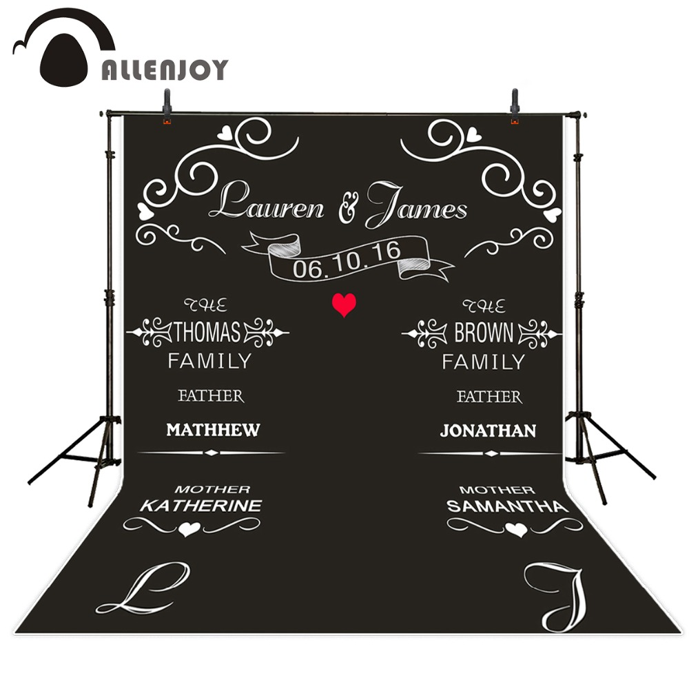 Allenjoy DIY photocall wedding photography backdrops blackboard red heart photo background fabric Signature Wall браслет девоншир тигровый глаз хрусталь