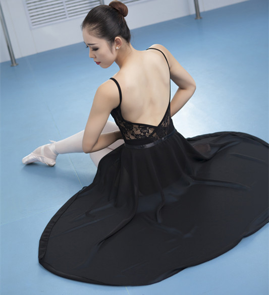 80 cm long adult Ballet dance skirt Chiffon lengthened thin teacher Ballet apron