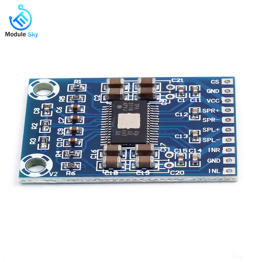 TPA3116D2 Class D Digital Amplifier Board 2x50W Dual Channe Stereo 12v-24V car