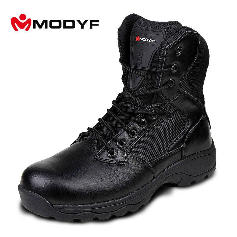 Modyf Men Winter Fashion Martin snow boots Esdy Desert Tactical Military Boots SWAT outdoor leather Combat