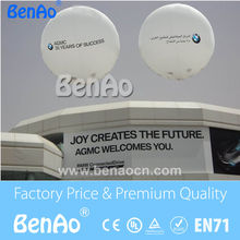 AO059  2m  Inflatable white helium balloon/0.18mm pvc helium balloon with printing+Free shipping
