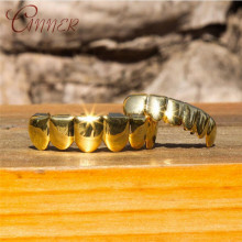 CANNER Hip Hop Gold Teeth Grillz Men Top & Bottom Grills False Set Dental Grill Tooth Cap Rapper Jewelry Gift