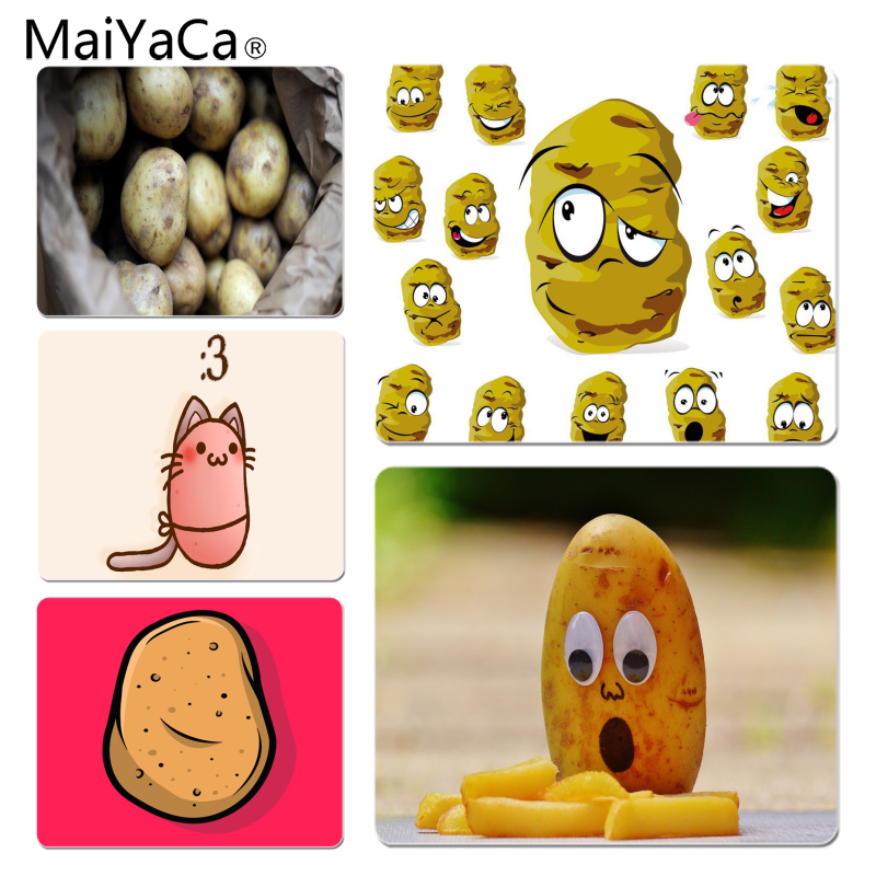MaiYaCa Personalized Cool Fashion Potato Fries Silicone Pad to Mouse Game Size for 180x220x2mm and 250x290x2mm Small Mousepad