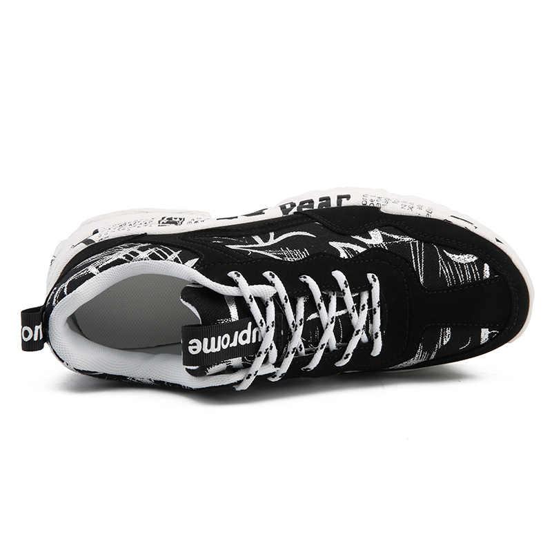 ERNESTNM Sneakers Mujer verano Casual moda Zapatos Graffiti Flats señoras Vulcanized Shoes blanco zapatillas Mujer