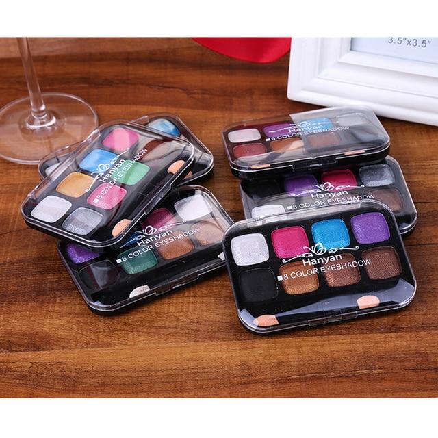 6pcs/set 8 Colors Baked Smoky Eye Shadow Makeup Palette Shimmer Earth Eyeshadow Kit Portable Charming Nude Cosmetic Make up kit