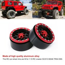 1Pair/2Pairs Alloy 1.9/2.2 CNC Beadlock Wheels Rims for 1/10 RC Crawler Axial SCX10 SCX10 II 90046 Traxxas TRX4 D90 CJGLG0008 dc 2 2inch high quality 6061 alloy cnc wheel rim for 1 10 rc crawler car traxxas trx4 ford bronco rc4wd d90 axial scx10 90046