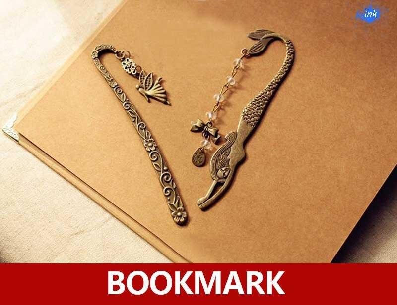 Vintage Bronze Metal Mermaid Bookmark , Antique Metal Mermaid And Angel Bookmarks As Decorations Book Marker