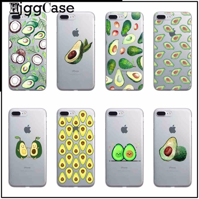 quality design 10fab 1d955 US $0.96 34% OFF|colorful avocado Cover TPU soft silicone Case Cover for  iPhone 6 6s 5 5s SE 4S 5C 7 Plus 7Plus 8 transparence Phone Case Cover-in  ...