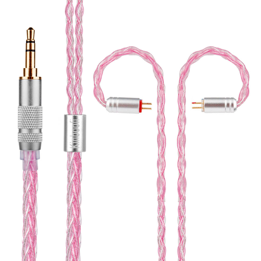 Yinyoo Kinboofi 8 Core Silver Plated Cable 2.5/3.5/4.4mm Balanced Cable With MMCX/2pin Connector For LZ A5 Sony