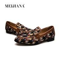 MEIJIANA Quality Split Leather Shoes Fashion Comfortable Casual Shoes Hot Sale Banquet Shoes Loafers Men Shoes 2019 New