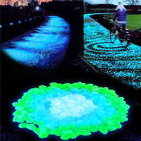 100pcs/lot Garden supplies Stone Glow in the Dark Luminous Pebbles Rocks for Walkways Fish Tank Decorations