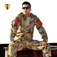 Army Military Uniform Tactical Suit Equipment BDU Desert Camouflage Combat Airsoft CS Hunting Uniform Clothing Set Jacket Pants