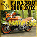 Motoegg ABS Fairing For FJR1300 FJR 1300 2006-2012 06-12 Orange Silver Y36M15 Motorcycle ABS plastic