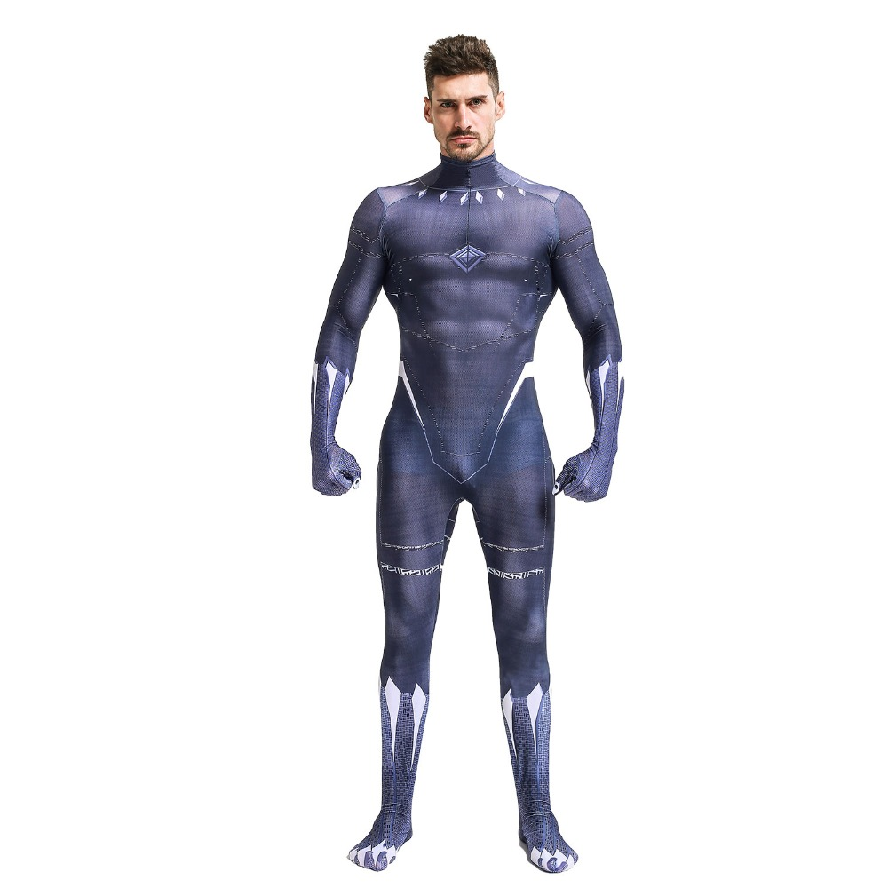Aliexpress.com : Buy Black Panther Men Cosplay Costume ...