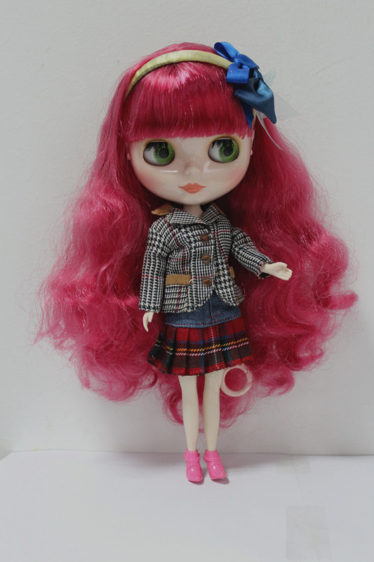 Blygirl Blyth doll Rose red hair volume No.4130 normal body 7 joints 1/6 body DIY doll hair volume for their makeup atsuko asano no 6 volume 5