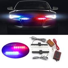 цена на 2x6 LED DRL 12V Wireless Remote Strobe Warning Lights Police Light Ambulance Work Light Emergency Flashing Fog Lamp Strobe Light