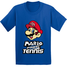2f90d93b9 100% القطن ، سوبر ماريو الطاقة تنس نمط الاطفال T قميص الطفل الكرتون مضحك  الملابس