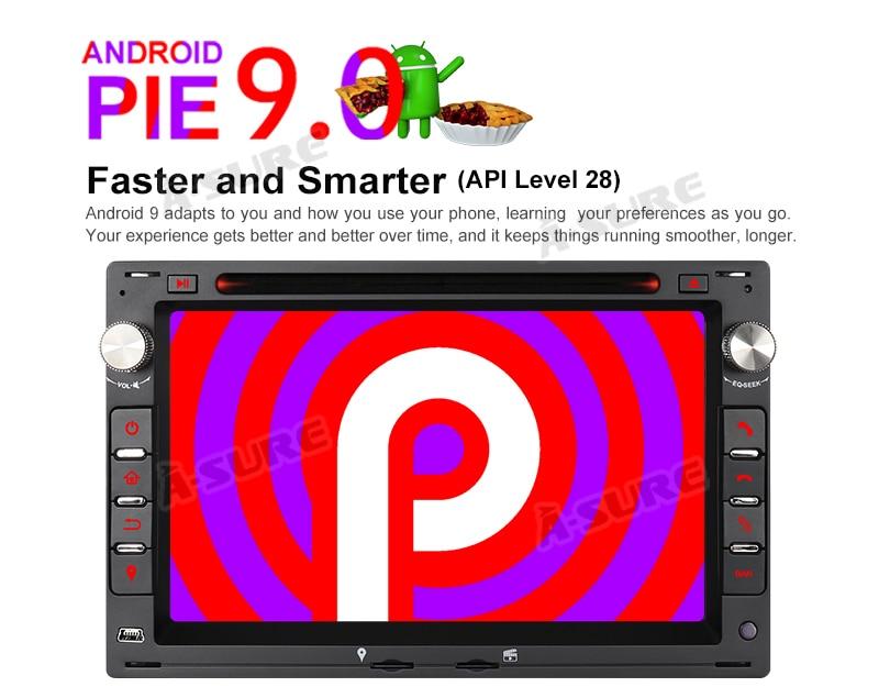 Android 9.0 VW Golf Transporter Passat 2 Din GPS DVD DAB+ WiFI 60