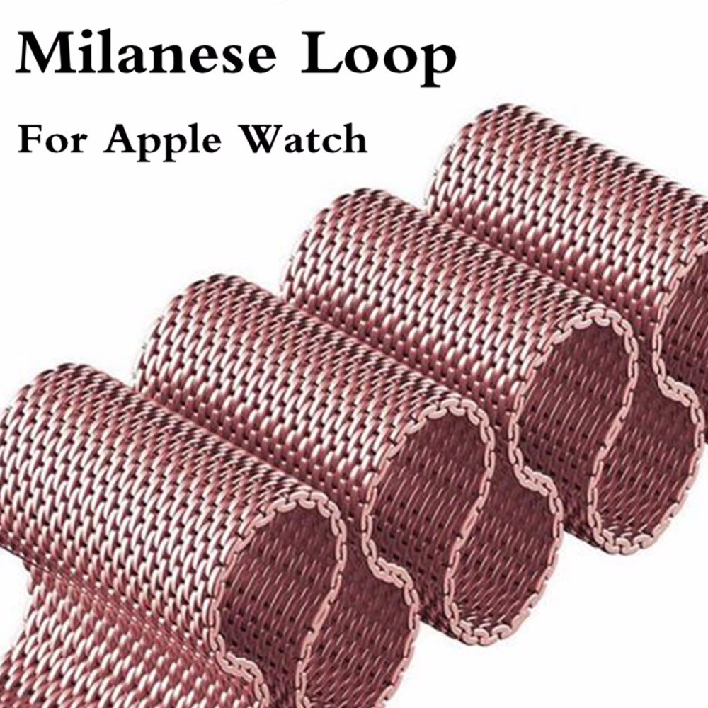 Milanese Loop for apple watch band for iwatch series 42mm 38mm 3/2/1 Stainless Steel Link Bracelet watchband magnetic buckle milanese magnetic loop stainless steel band for moto 360 2nd smart watch sliver 42mm