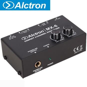 Alctron MX-6 kompaktowy 2-kanałowy mikser audio do występów na scenie studio nagrań tanie i dobre opinie Przewodowy Pojedyncze Mikrofon compact 2-channel audio mixer